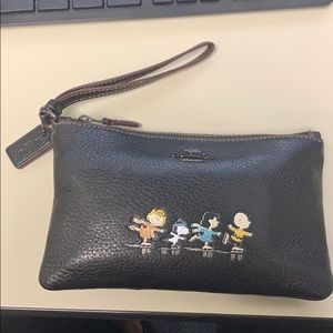 Coach small leather satchel-Snoopy